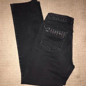 Rhinestone black jeans